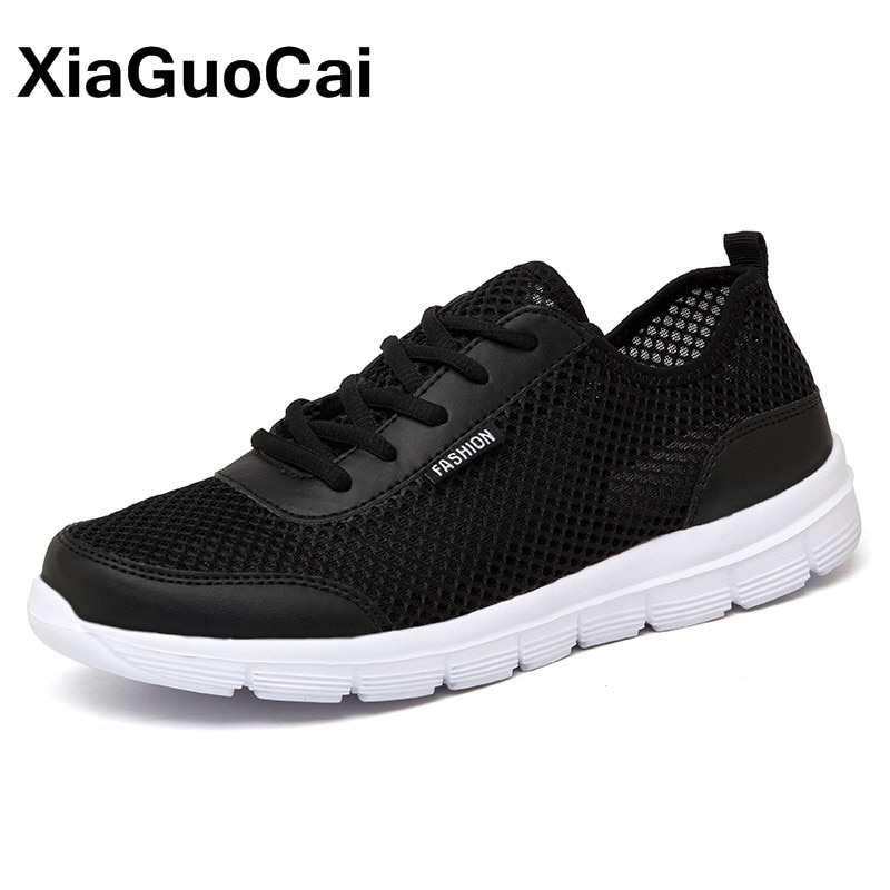 Summer Men Shoes Breathable Mesh Sneakers Unisex Couple Casual Footwear For Lovers Lightweight Flats