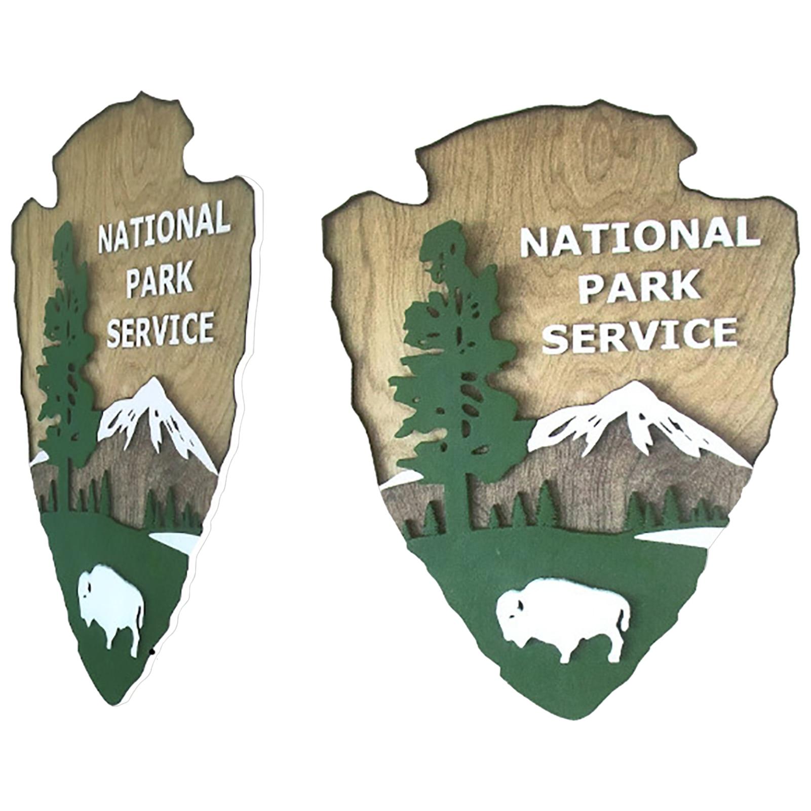 Сервисный знак, деревянный знак, украшение, заостренный деревянный знак, украшение для дома, печать на сервисе в национальном парке, украшен...