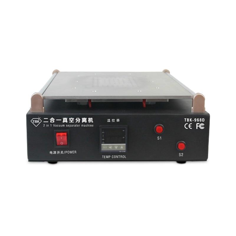 TBK-968D 19 بوصة مصنع عالية الكفاءة إصلاح الهاتف المحمول 2 في 1 فراغ ماكينة فصل شاشة Lcd فاصل