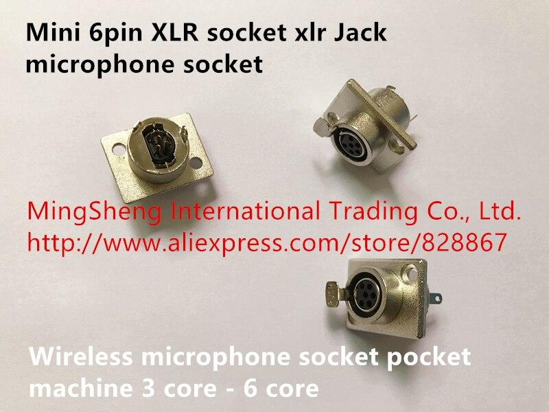 Original nuevo 100% mini 6pin XLR hembra xlr Jack micrófono hembra MICRÓFONO INALÁMBRICO hembra bolsillo 3 core-6 core