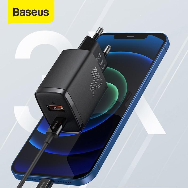 باسيوس PD شاحن 20 وات USB نوع C لايفون 12 11 برو ماكس شاومي mi ثنائي USB شحن سريع QC 3.0 USBC الجدار الهاتف تهمة محول