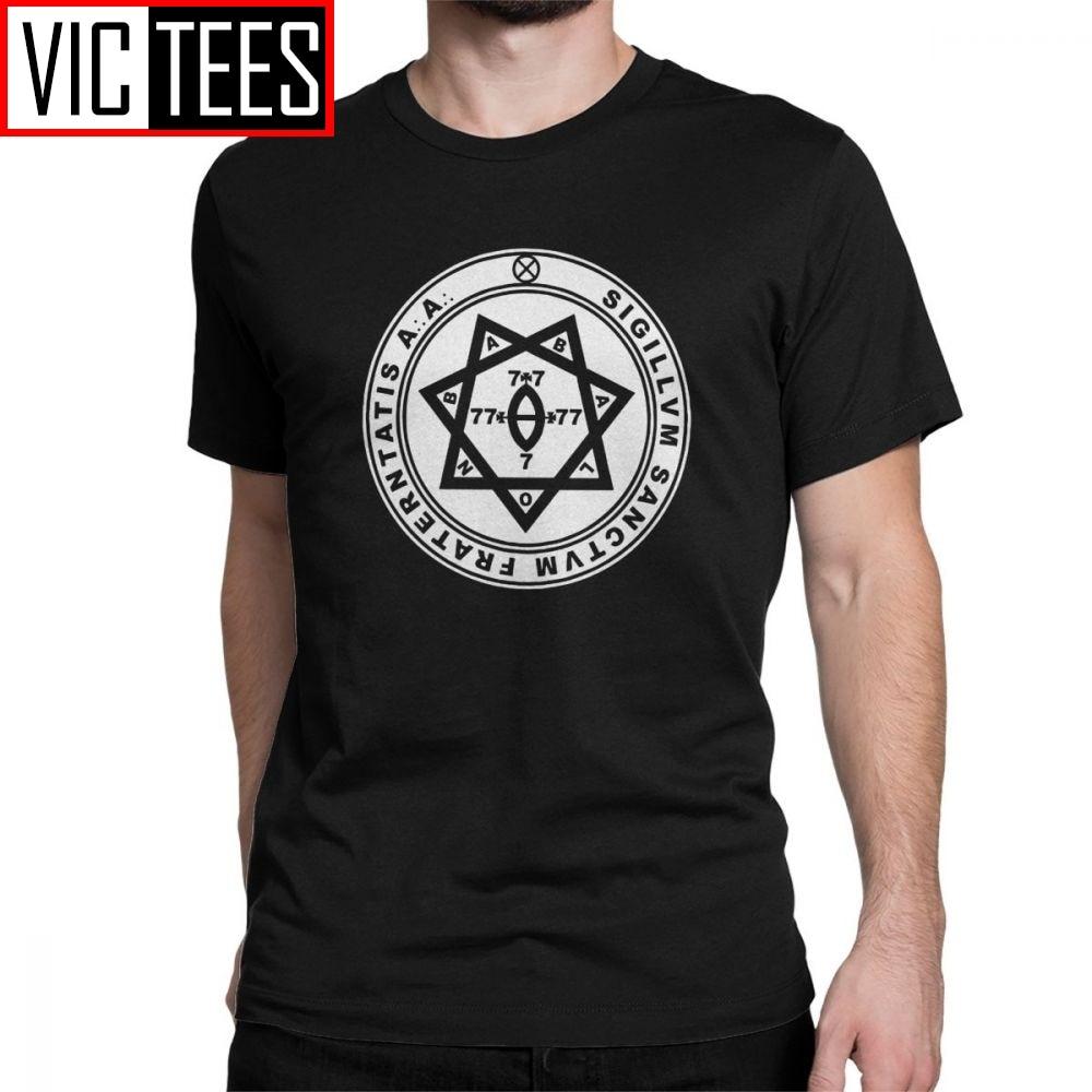Aleister Crowley joint occulte Thelema hommes t-shirts magique salomon magique occulte Magick démon mal t-shirt manches courtes