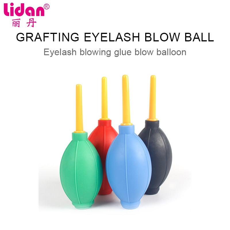 Secador de pestaña falsa aire Bolas de secado injerto pegamento para extensión de pestañas de mal gusto de caucho soplado herramientas de limpieza de polvo