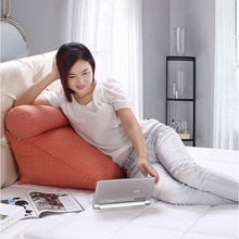Coussin de dossier triangulaire en lin coton   Coussin réglable en hauteur pour coussins de canapé, pour lit, Support de dos oreiller grande taille