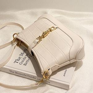 Crocodile pattern Square Armpit bag 2020 New High quality PU Leather Women's Designer Handbag Vintage Shoulder Messenger Bag