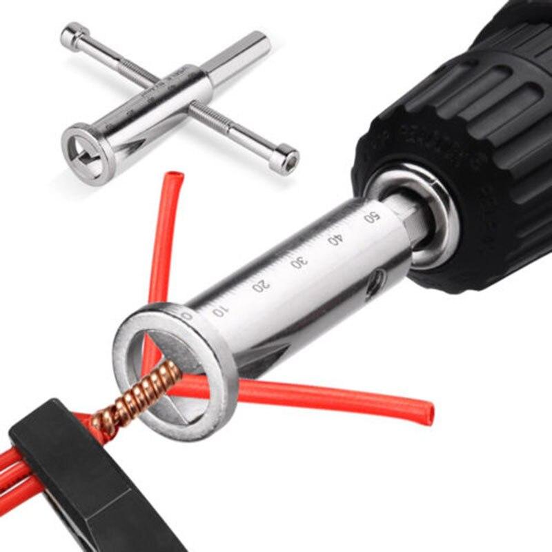 Para taladro eléctrico Pelacables Twister Driver Cable Connector componente