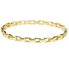Nuevo diseño único 18K sólido Real genuino oro AU750 pulseras de cadena para mujeres de lujo femenino de lujo calle joyería fiesta regalo