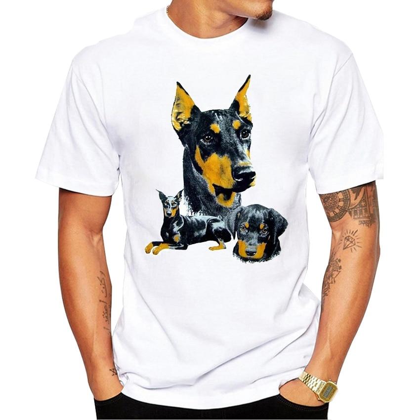 2019 Camiseta dóberman personalizada perro Pincher nueva Camiseta ropa manga corta Camiseta de alta calidad