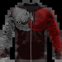 viking ravens hoodie 3d all over printed for menwomen fashion sweatshirt springautumn casual pullover zipper streetwear