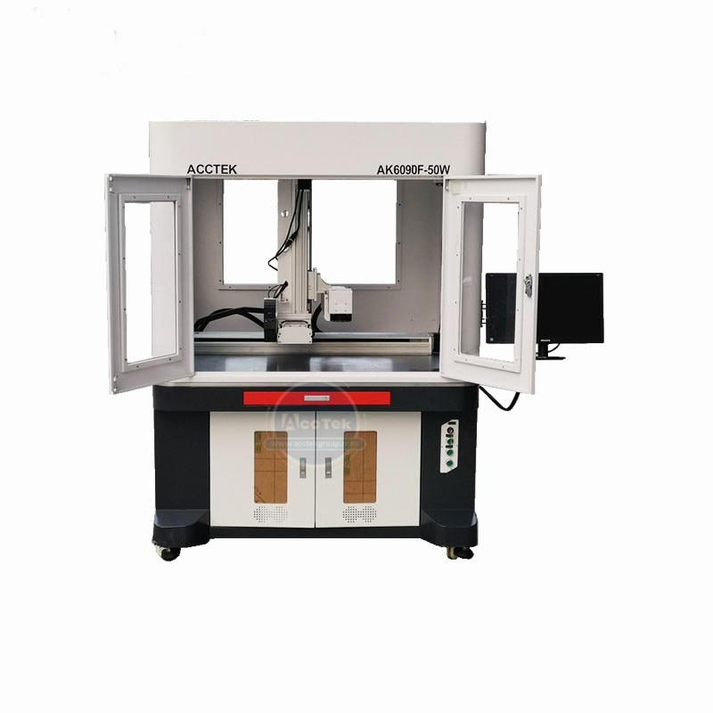 China Hot Sale Big Size 6090 1390 1325 Fiber Laser Metal Engraving Etching Marking Machine With Closed Design Fiber Laser Marker