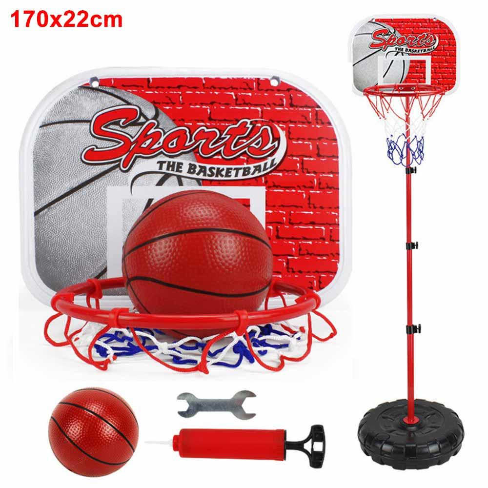 170CM Basketball Stand Set Adjustable Height Kids Basketball Hoop Outside Backyard Games for Boys Girls Toddlers