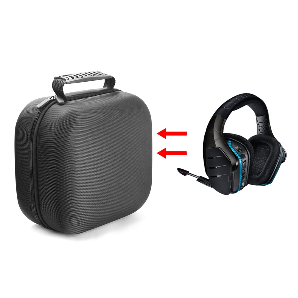 Funda protectora para juego de sonido envolvente inalámbrico Logitech G933 7,1 accesorios para auriculares bolsa de almacenamiento de nailon Estuche De Viaje