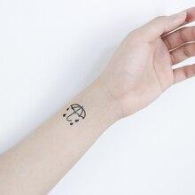 Puzzle ancre voilier temporaire tatouage autocollant imperméable femmes hommes adultes faux corps Art nouveau Design 10.5X6cm enfants main Tatoo