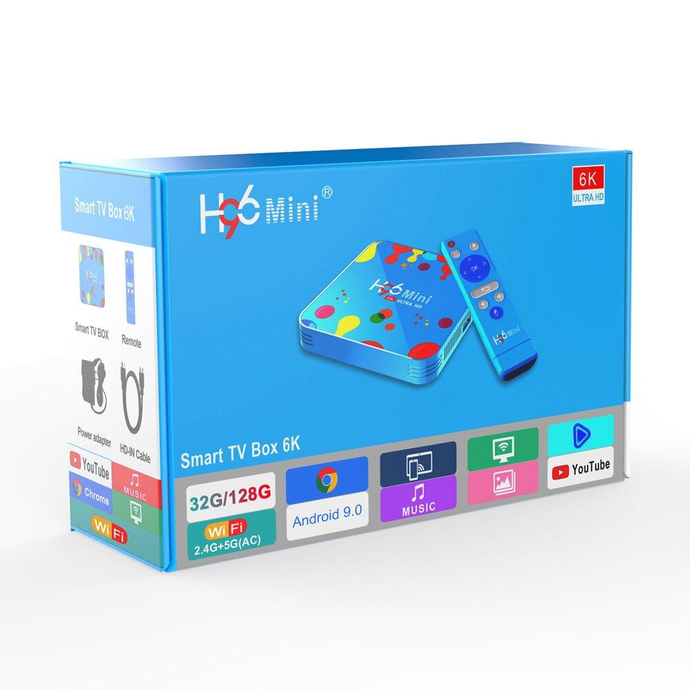 10 шт./лот H96 mini H6 Top Box allwinner h6 Quad Core H96mini Android Wifi 128 Гб 4K H.265 4 Set tv box|ТВ-приставки и