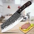 Ручной кованый молоток с узором, кухонный нож в китайском стиле, кухонный нож из нержавеющей стали 5Cr15, острый кухонный нож - фото