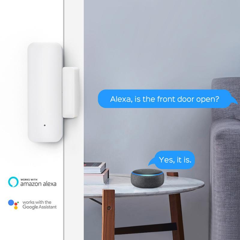 Tuya Smart Door Window Sensor WiFi Door Open/Closed Detectors Security Alarm With Alexa Google Home Smartlife App Notification enlarge