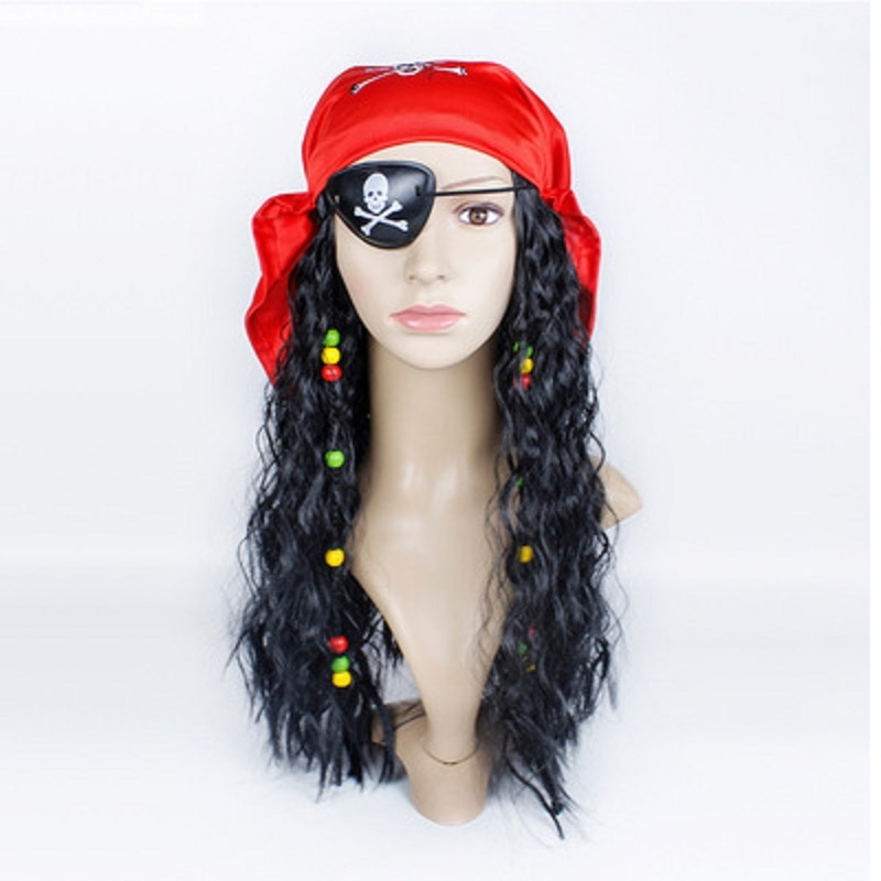 Anime One Piece D Ace Luffy Cosplay Men Women Kids Tony Pirates Caps Skull Toys Costume Halloween Hat Pirate Wig