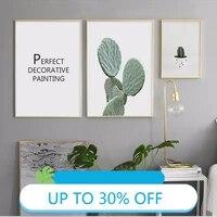 Toile de peinture danimaux  affiches murales  Cactus  requin  tableau dart pour decoration de salon  decoration de maison