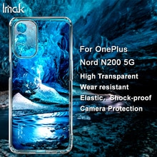 IMAK Transparent for OnePlus Nord N200 5G Soft Phone Case Back Cover Case for OnePlus Nord N200 5G T