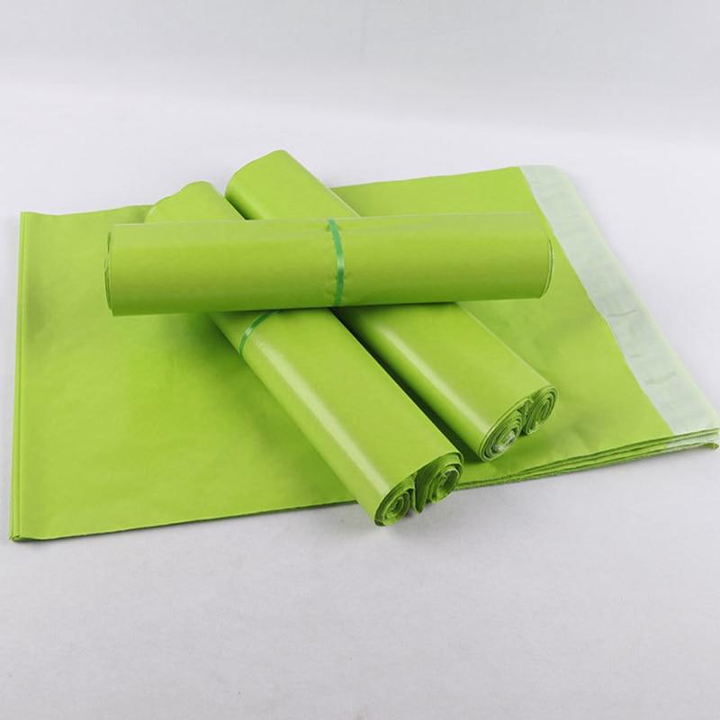 15 размер/10 шт Зеленые полиэтиленовые самоклеющиеся упаковочные конверты для почтовых отправлений почтовые пакеты почтовые сумки курьерск...