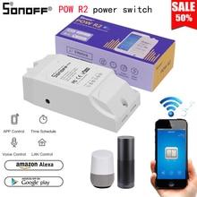 Sonoff pow r2 wi fi sem fio interruptor de casa inteligente para alexa google casa interruptor de monitoramento de energia sonoff pow r2 interruptor de controle remoto