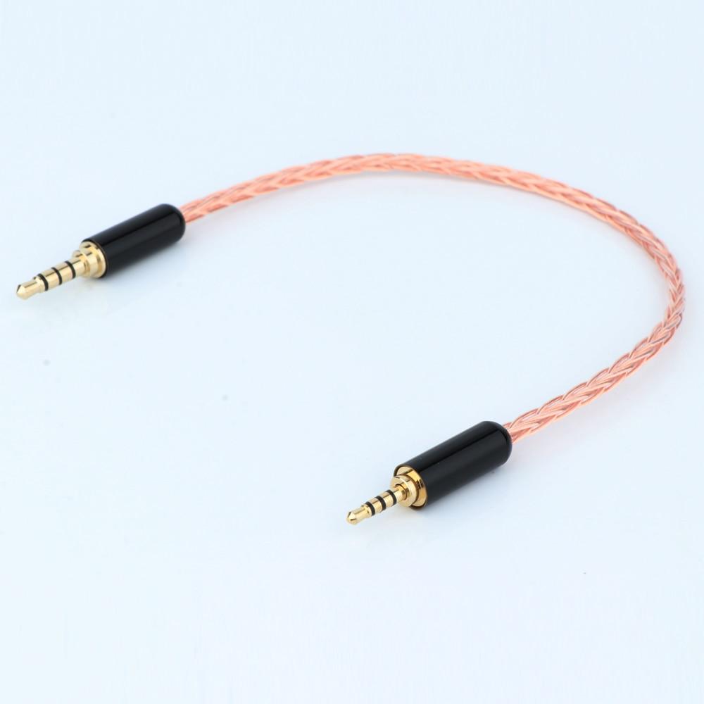 Cable adaptador de Audio TRRS equilibrado macho a TRRS, 2,5mm, 3,5mm
