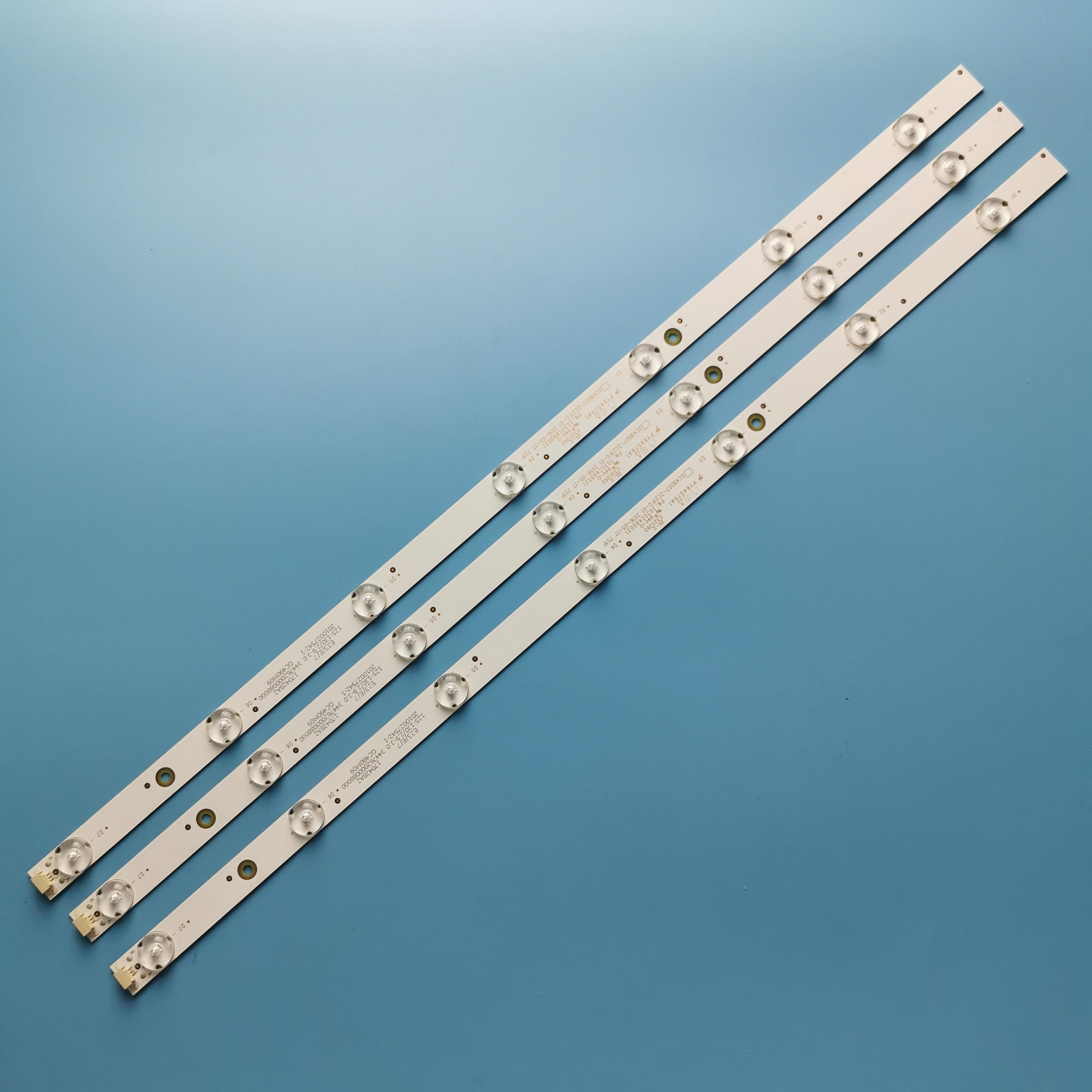 485 мм светодиодный фонарь с подсветкой 7 светодиодный s для Philips 49PUF6261/T3 GC49D07-ZC21FG-01 303GC490031 GC490M06