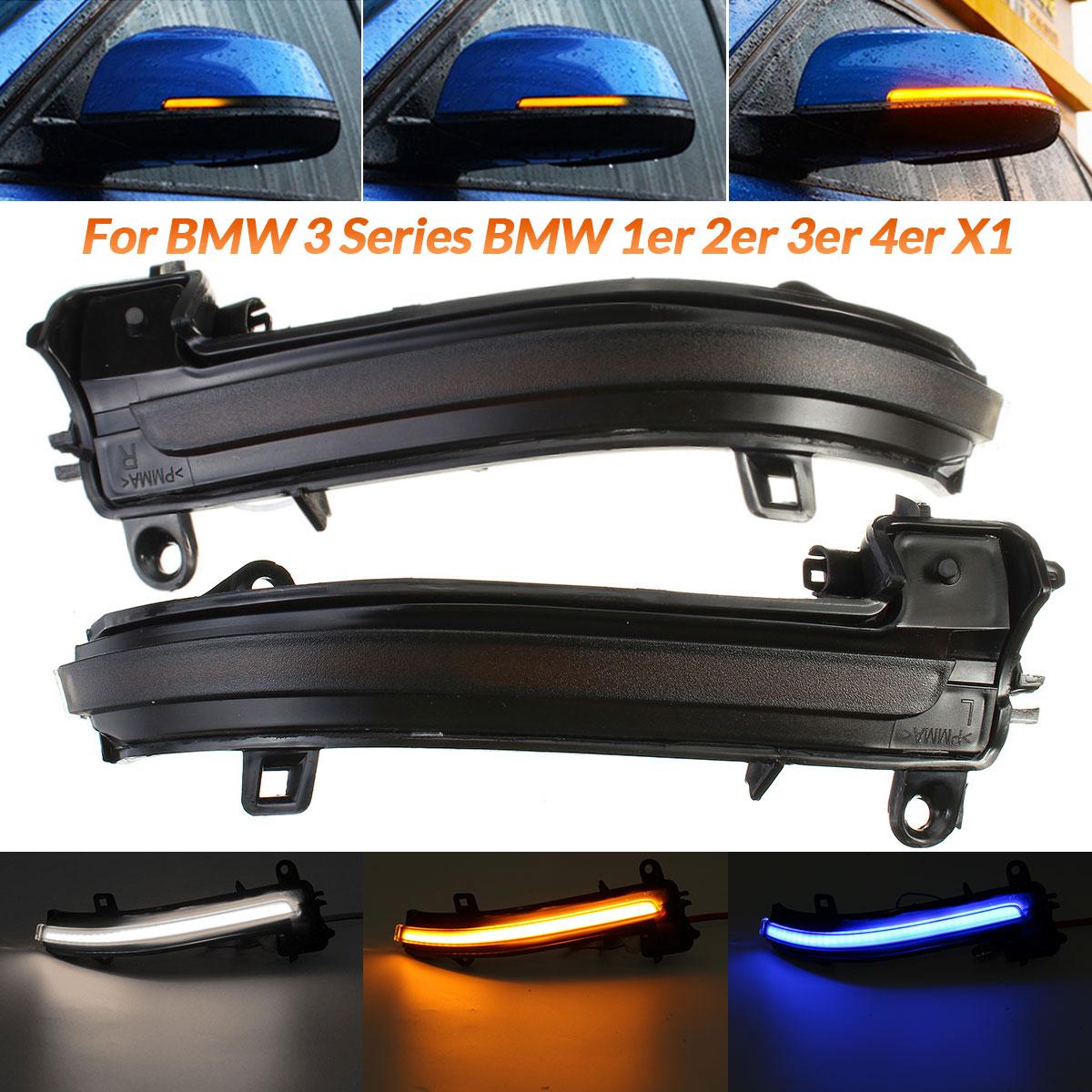 Luces LED intermitentes dinámicas 2 uds., indicador de luz de espejo lateral para BMW F20 F30 F31 F21 F22 F23 F32 F33 F34 X1 E84 F36 1 2 3 4