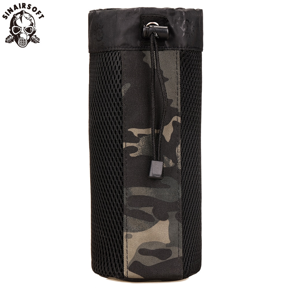 SINAIRSOFT MOLLE System Single Water Bottle Climbing Bags Kettle Pouch Army Durable Travel Hiking Tactical Outdoor Water Bag