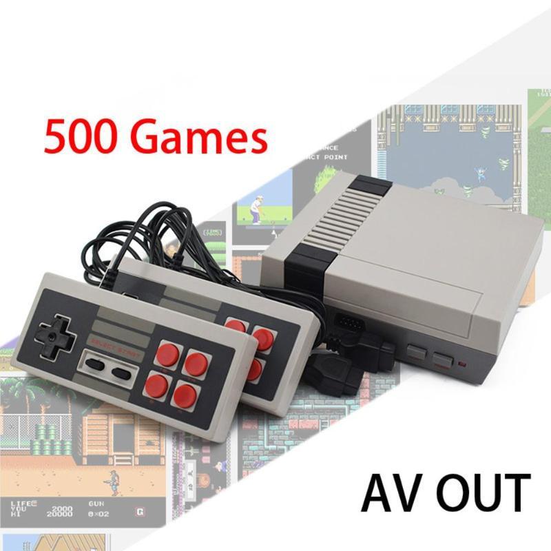 Встроенный 500/620 Мини ТВ игровая консоль 8 бит Ретро Классический Ручной игровой плеер AV выход видео игровая консоль игрушки подарки
