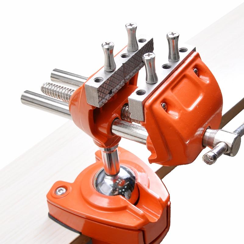 دوّار منجلة دوّارات 360 درجة دوّارة وحدة عالميّة مشبك نائب ثقيل متعدد الوظائف منضدة أدوات يدوية