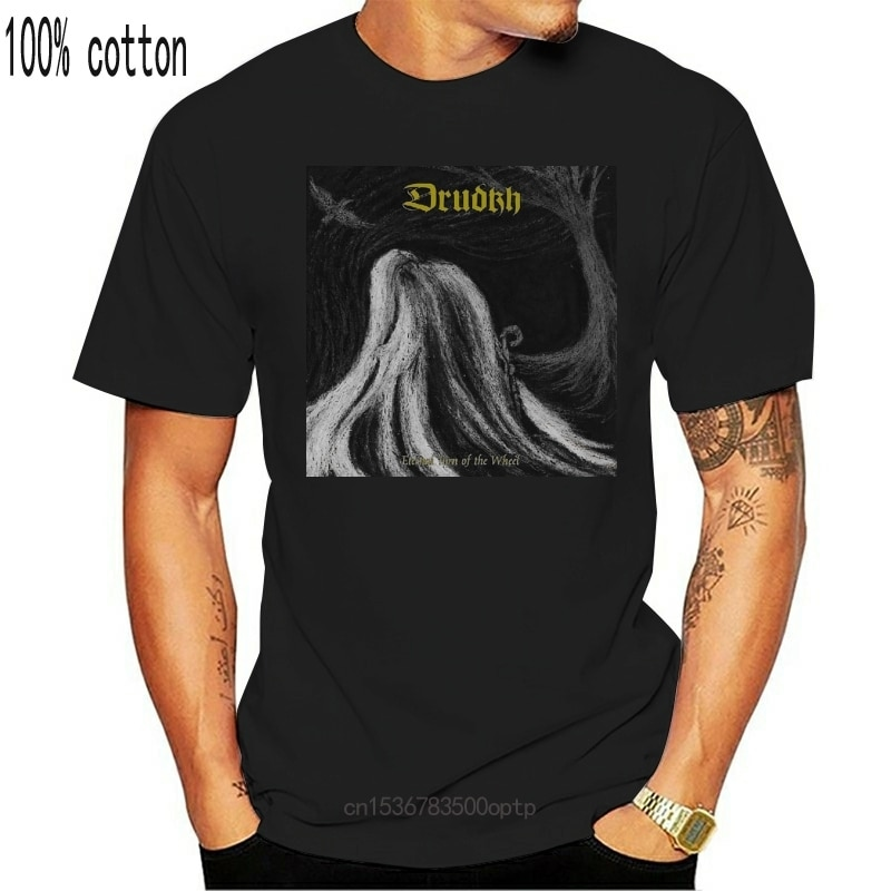New Drudkh 'Eternal Turn of The Wheel' T Shirt2021 2021 Arrival Stringer Men Free China Post Shipping Homme Tee