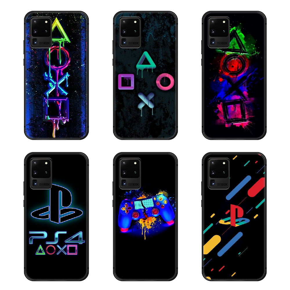 PlayStation PS Phone Case Cover Hull For Samsung Galaxy S 6 7 8 9 10 e 20 edge uitra Note 8 9 10 plus black prime tpu Etui trend