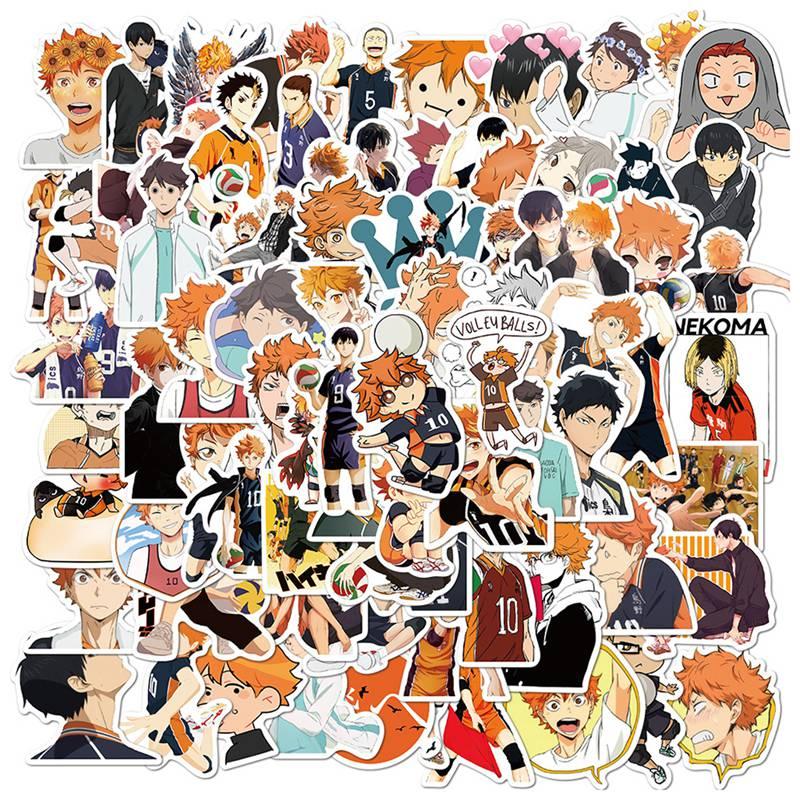 For 102 pcs/pack Anime Haikyuu!! Stickers Set Decorative Stationery Craft Stickers Scrapbooking Diy Diary Album Stick Label flamingo mark name stickers decorative stationery craft stickers scrapbooking diy stick label