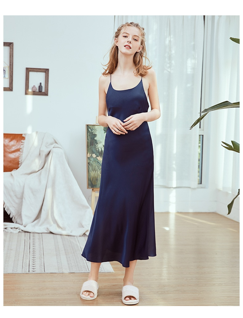 Pajama sets Women's Gown And Robe Set Night Dress Homewear Silk Sexy sling Summer Nightgown Fashion Women nuisette femme sexy