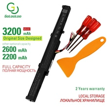 Golooloo 3200 Mah 4 Cellen Laptop Batterij X550E Voor Asus X750JA A450C A450V A450E X751M X751MA-DB01Q A450 X751MA X751L K751L 14.8