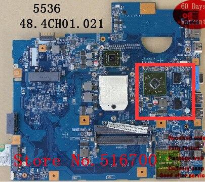 Buena calidad 48.4CH01.021 para la placa base del ordenador portátil Acer 5536 5536G 08252-2 JV50-PU MB 100% totalmente probada