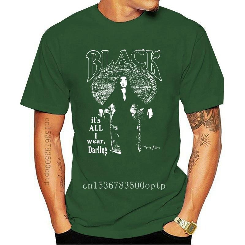 New Men t shirt BLACK IT S ALL I WEAR MORTICIA ADDAMS tshirts Women t-shirt