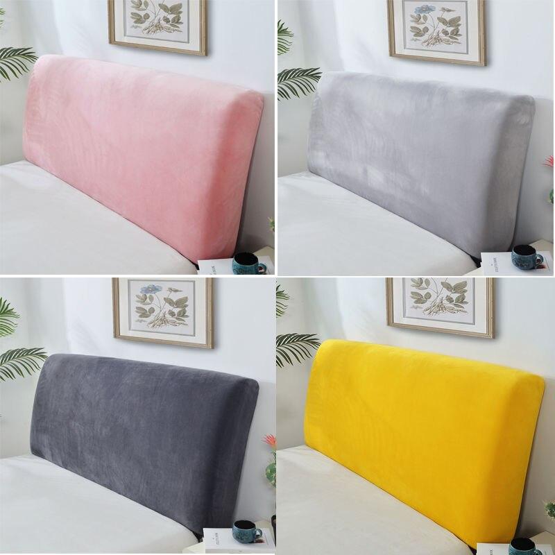 بلون أفخم رشاقته مطاطا شامل غطاء رأس السرير السرير رئيس عودة حماية غطاء غبار غطاء اللوح الأمامي