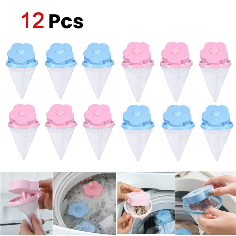6/10Pcs Reusable Pet Fur Lint Hair Catcher Clothes Cleaning Ball Household Laundry Removal Floating Cleaner For Washing Machine