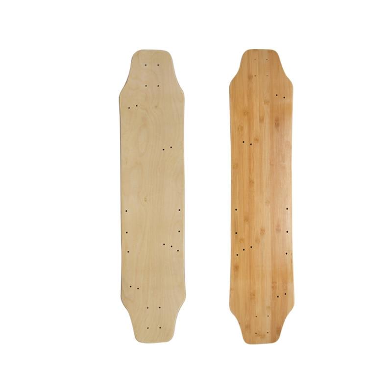 Professional Maple Longboard Skateboard Deck Double Rocker Beginner Skates Land Surf Deskorolka Skate Board Accessories BI50SA