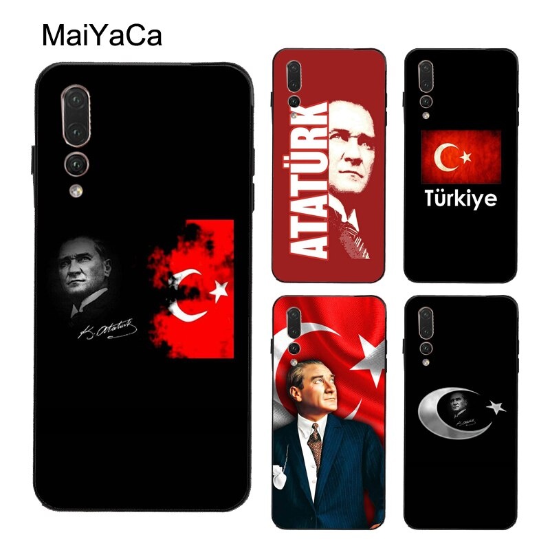 Turco Ataturk bandera TPU funda para Huawei P20 Lite P40 P10 P30 Pro P inteligente 2019 Z amigo 20 10 Lite 30 Pro