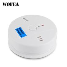 Wofea LCD CO capteur fonctionne seul construit en 85dB sirène son indépendant monoxyde de carbone détecteur dalarme dintoxication