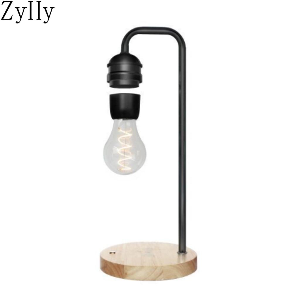 الجدة LED المغناطيسي الإرتفاع لمبة العائمة لمبة مكتب السحر الأسود التكنولوجيا اللاسلكية شاحن للمنزل هدية الكريسماس ضوء الليل