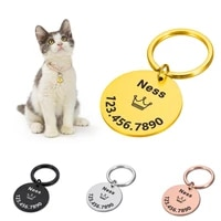 pet id tags anti lost personalized free engraved pet id name tel for cat puppy dog collar tag pet accessories custom dog tag