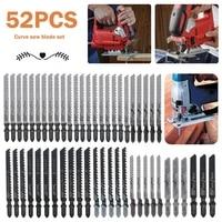 52pcs saw blades t shank jig saw blades set universal jig saw blade assortment hcshss 10 types assorted blades set