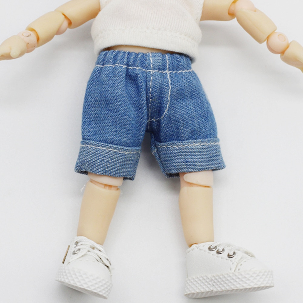 OB11 BJD Doll Clothes Casual Dark Blue Jeans Pant Cowboy Jeans Pant for ob11,obitsu11,Molly, 1/12bjd Doll Clothing Accessories недорого