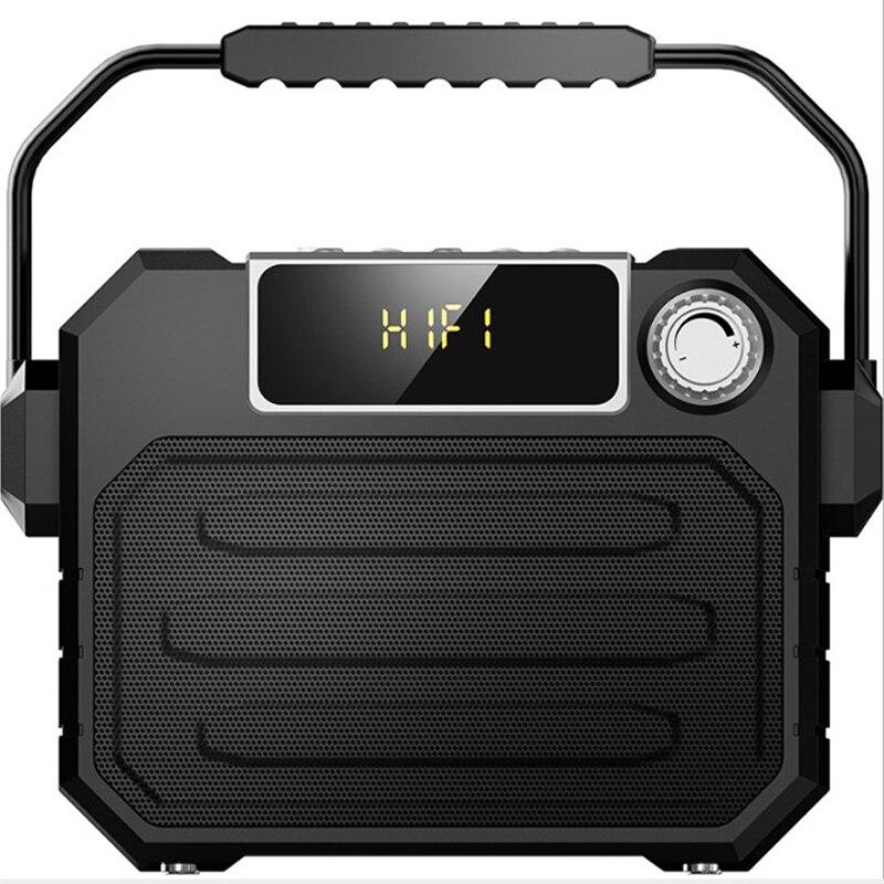 Altavoz grande de alta potencia portátil Bluetooth altavoz de graves pesados altavoces inalámbricos de exterior Subwoofer Control remoto FM MIC TF USB