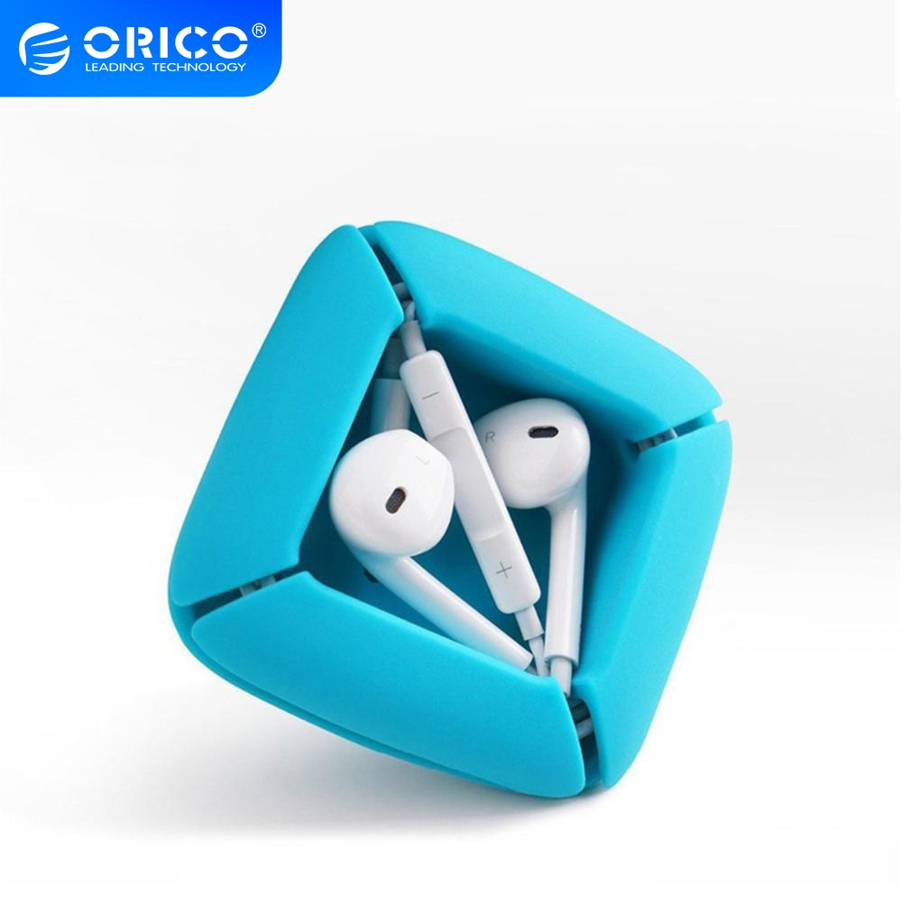 Organizador de Cables ORICO, Clips de gestión flexibles de silicona, soporte de Cable para auriculares, Cables de auriculares ELR1, tres colores