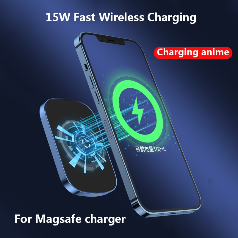 10000mAh Magnetic Power Bank For Magsafe Mobile Phone Battery 15W Fast Wireless Charging For iphone12Pro 12ProMax 12mini Charger